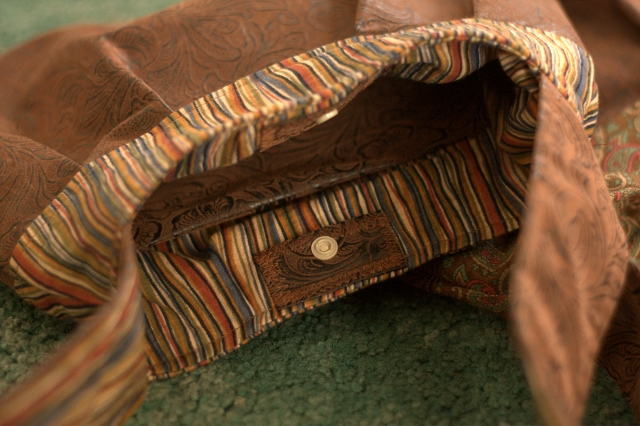 Interior - striped bag