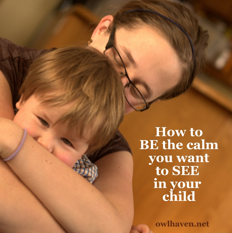 Calm Mom:  be what you want to see in your child