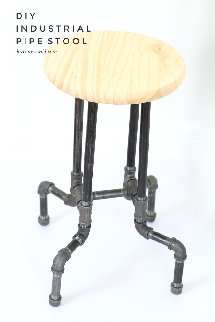 DIY Industrial Pipe Stools