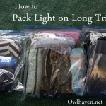 Pack Light on Trips